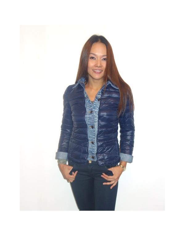 les ventes chaudes profiter de prix discount chaussures authentiques Doudoune femme courte jeans, cintrée et ajustée